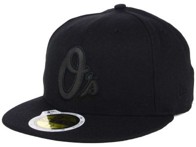 Baltimore Orioles MLB Black on Black Iridescent 59FIFTY Cap Hats