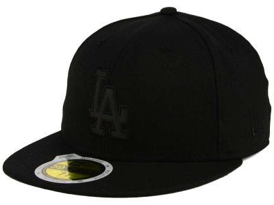 Los Angeles Dodgers MLB Black on Black Iridescent 59FIFTY Cap Hats
