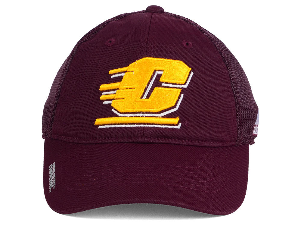 97015b4a893 chic Central Michigan Chippewas adidas NCAA Coach Meshback Flex Cap ...