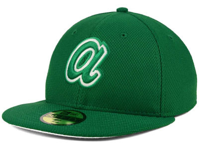Atlanta Braves MLB 2016 St. Patty's Diamond Era 59FIFTY Cap Hats