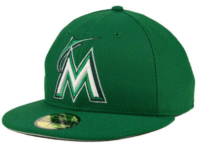 Miami Marlins MLB 2016 St. Patty's Diamond Era 59FIFTY Cap Hats