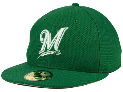 Milwaukee Brewers MLB 2016 St. Patty's Diamond Era 59FIFTY Cap Hats