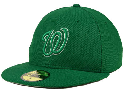 Washington Nationals MLB 2016 St. Patty's Diamond Era 59FIFTY Cap Hats