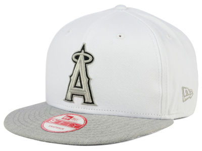 Los Angeles Angels MLB White Heather Gray Black 9FIFTY Snapback Cap Hats