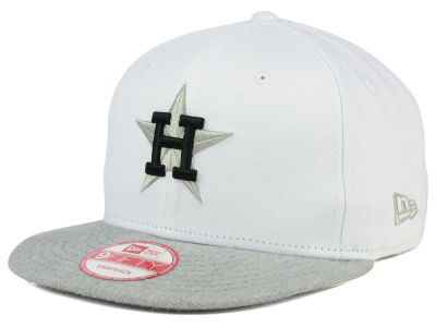 Houston Astros MLB White Heather Gray Black 9FIFTY Snapback Cap Hats