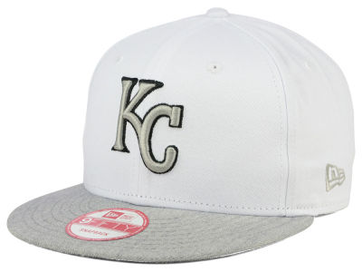 Kansas City Royals MLB White Heather Gray Black 9FIFTY Snapback Cap Hats