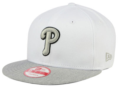 Philadelphia Phillies MLB White Heather Gray Black 9FIFTY Snapback Cap Hats