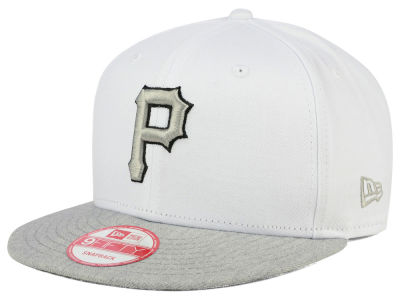 Pittsburgh Pirates MLB White Heather Gray Black 9FIFTY Snapback Cap Hats