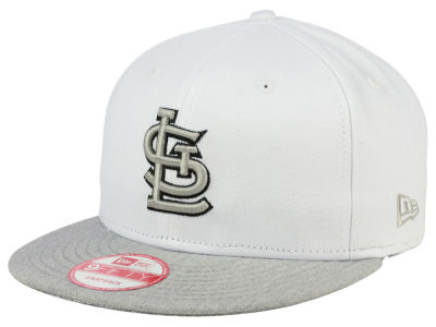 St. Louis Cardinals MLB White Heather Gray Black 9FIFTY Snapback Cap Hats