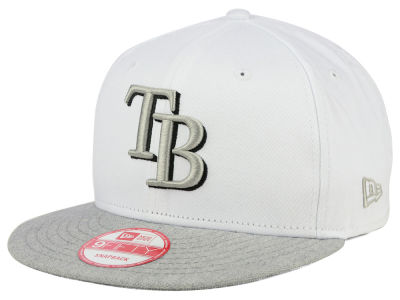 Tampa Bay Rays MLB White Heather Gray Black 9FIFTY Snapback Cap Hats
