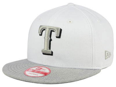 Texas Rangers MLB White Heather Gray Black 9FIFTY Snapback Cap Hats