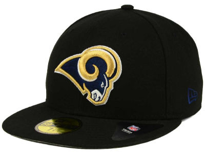 Los Angeles Rams NFL Black Team 59FIFTY Cap Hats