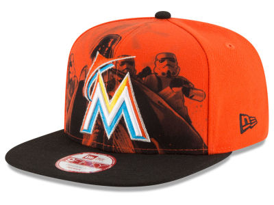 Miami Marlins MLB Shadow Front 9FIFTY Snapback Cap Hats