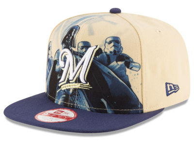 Milwaukee Brewers MLB Shadow Front 9FIFTY Snapback Cap Hats