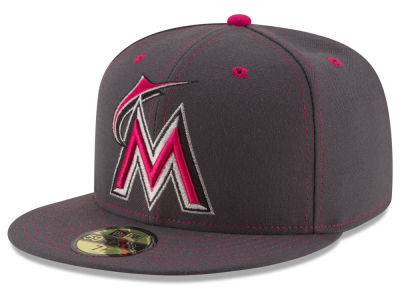 Miami Marlins 2016 MLB Mothers Day 59FIFTY Cap Hats