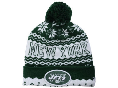 New York Jets NFL Snowflake Pom Knit Hats