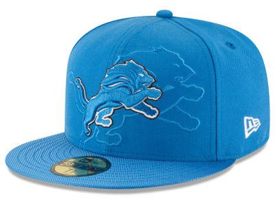 Detroit Lions 2016 Official NFL Sideline 59FIFTY Cap Hats