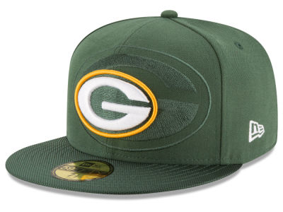 Green Bay Packers 2016 Official NFL Sideline 59FIFTY Cap Hats