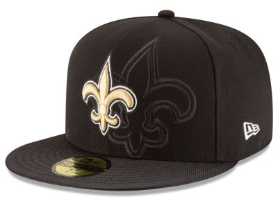 New Orleans Saints 2016 Official NFL Sideline 59FIFTY Cap Hats