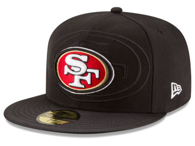 San Francisco 49ers 2016 Official NFL Sideline 59FIFTY Cap Hats