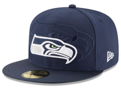 Seattle Seahawks 2016 Official NFL Sideline 59FIFTY Cap Hats