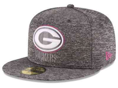 Green Bay Packers NFL Breast Cancer Awareness Official 59FIFTY Cap Hats