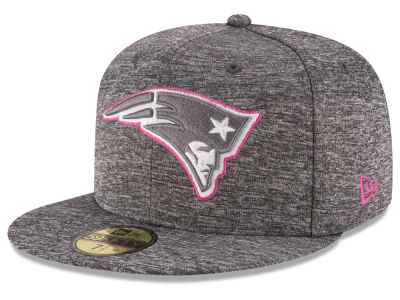 New England Patriots NFL Breast Cancer Awareness Official 59FIFTY Cap Hats