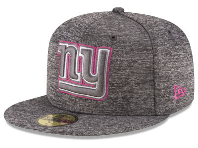 New York Giants NFL Breast Cancer Awareness Official 59FIFTY Cap Hats
