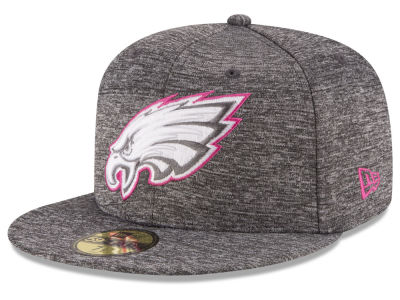 Philadelphia Eagles NFL Breast Cancer Awareness Official 59FIFTY Cap Hats