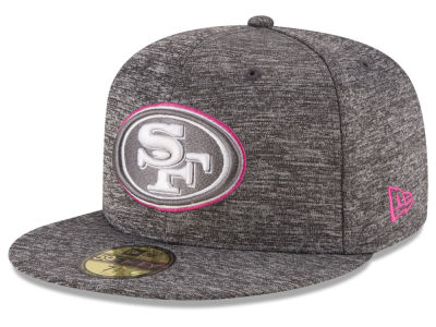 San Francisco 49ers NFL Breast Cancer Awareness Official 59FIFTY Cap Hats
