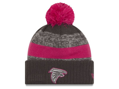 Atlanta Falcons NFL Breast Cancer Awareness Official Pom Knit Hats
