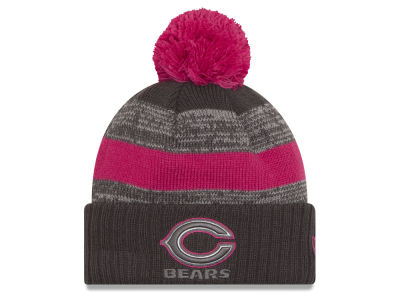 Chicago Bears NFL Breast Cancer Awareness Official Pom Knit Hats