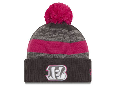 Cincinnati Bengals NFL Breast Cancer Awareness Official Pom Knit Hats
