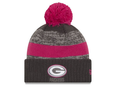 Green Bay Packers NFL Breast Cancer Awareness Official Pom Knit Hats