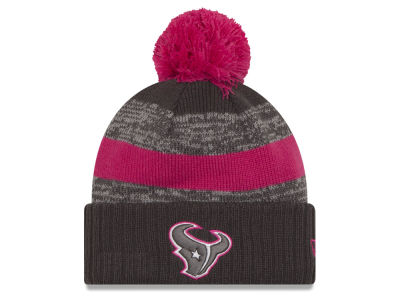 Houston Texans NFL Breast Cancer Awareness Official Pom Knit Hats
