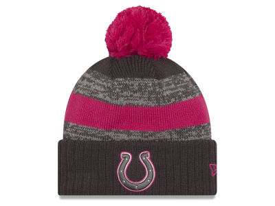 Indianapolis Colts NFL Breast Cancer Awareness Official Pom Knit Hats