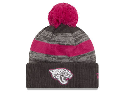 Jacksonville Jaguars NFL Breast Cancer Awareness Official Pom Knit Hats