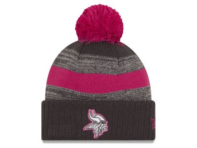 Minnesota Vikings NFL Breast Cancer Awareness Official Pom Knit Hats
