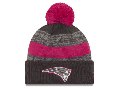 New England Patriots NFL Breast Cancer Awareness Official Pom Knit Hats