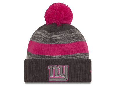 New York Giants NFL Breast Cancer Awareness Official Pom Knit Hats