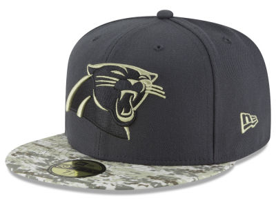 Carolina Panthers NFL Salute to Service Official 59FIFTY Cap Hats