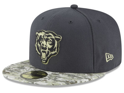 Chicago Bears NFL Salute to Service Official 59FIFTY Cap Hats