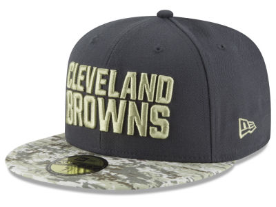 Cleveland Browns NFL Salute to Service Official 59FIFTY Cap Hats