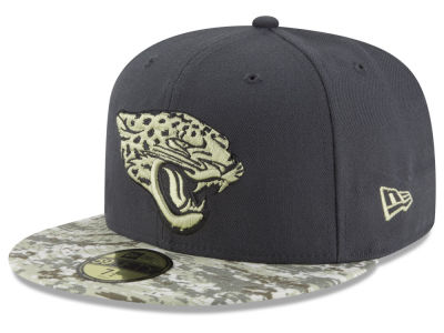 Jacksonville Jaguars NFL Salute to Service Official 59FIFTY Cap Hats