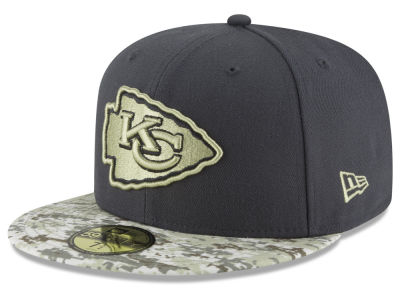 Kansas City Chiefs NFL Salute to Service Official 59FIFTY Cap Hats