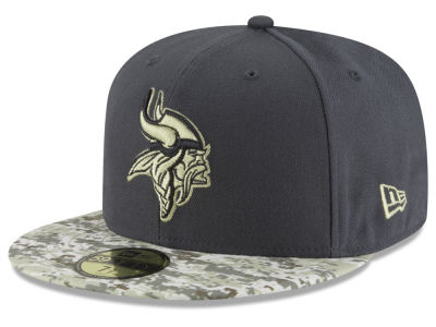 Minnesota Vikings NFL Salute to Service Official 59FIFTY Cap Hats