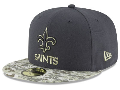 New Orleans Saints NFL Salute to Service Official 59FIFTY Cap Hats