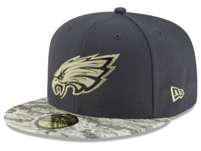 Philadelphia Eagles NFL Salute to Service Official 59FIFTY Cap Hats