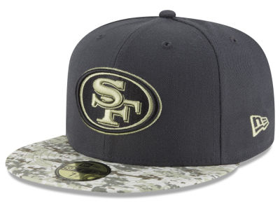 San Francisco 49ers NFL Salute to Service Official 59FIFTY Cap Hats