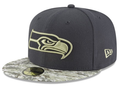 Seattle Seahawks NFL Salute to Service Official 59FIFTY Cap Hats
